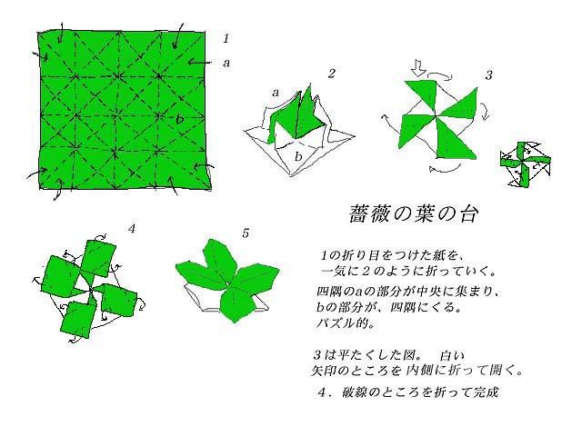 ハート 折り紙 : 折り紙 葉っぱ 折り方 : divulgando.net